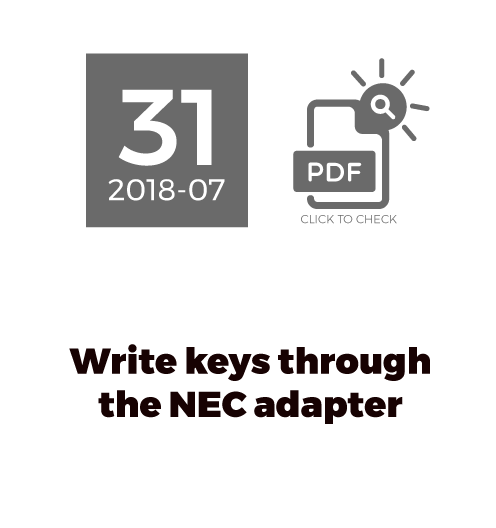 Write keys through the NEC adapter