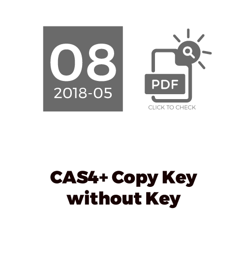 CAS4+ Copy Key Without Key