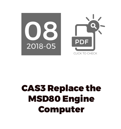 CAS3 Replace The MSD80 Engine Computer