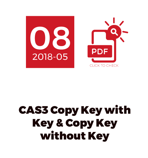 CAS3 Copy Key With Key & Copy Key Without Key